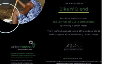 WE'VE GONE CARBON AND PLASTIC NEUTRAL (WELL POSITIVE ACTUALLY)!